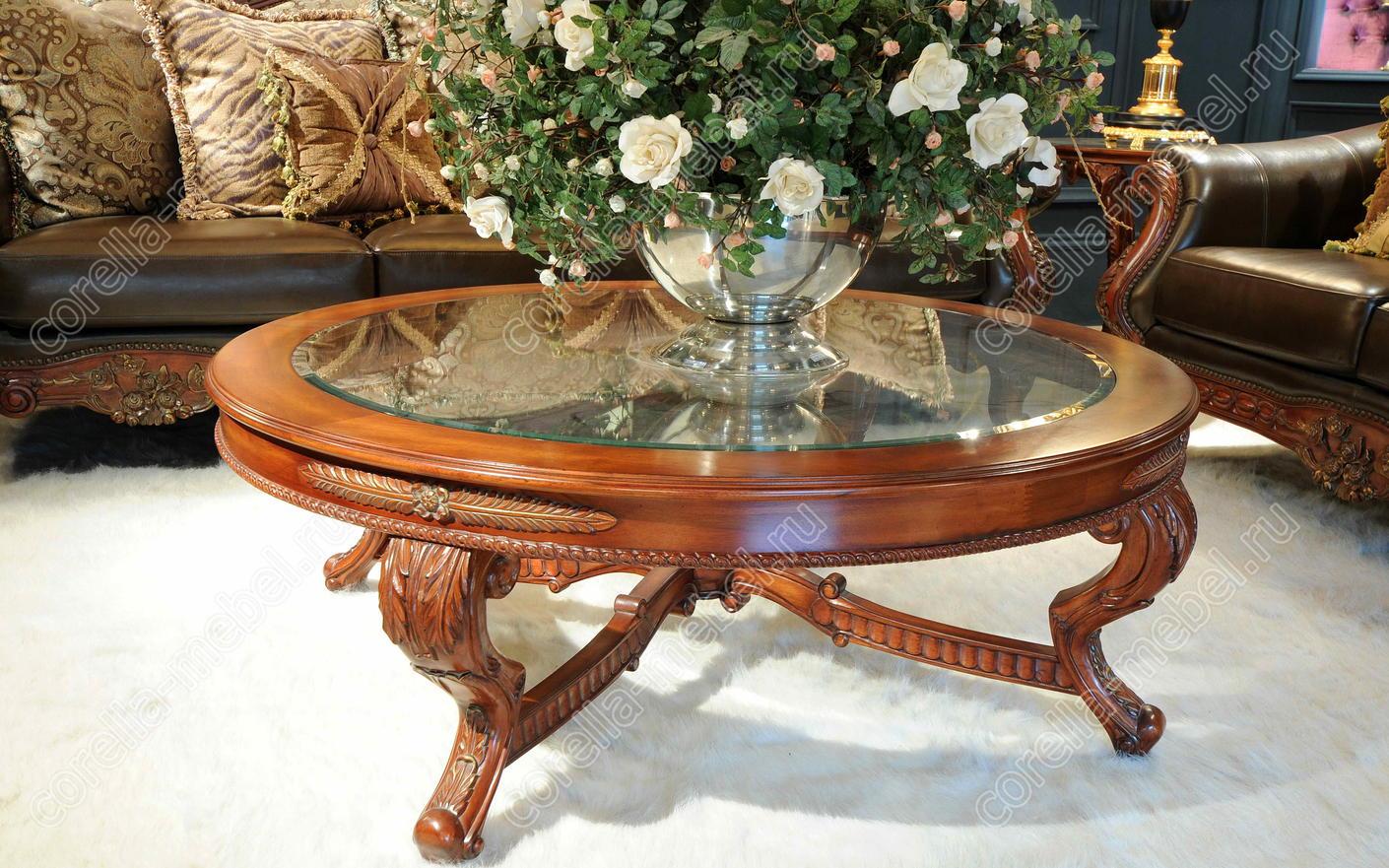Журнальный столик  стиле из дерева